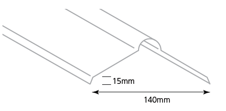 Flashings - Roll Top Ridge Soft (0.55bml)